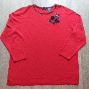 Laura Scott Red Womens Sweater Size 20/22W
